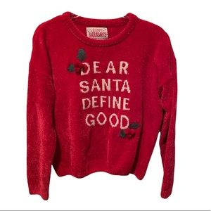 Christmas Sweater Women's Size Large Red